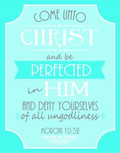 Free Printable Poster for LDS Young Womens 2014 Theme: Come Unto Christ -from creationsbykara.com