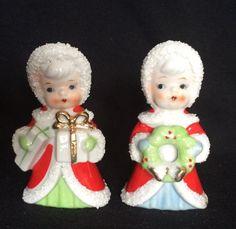 VTG Japan Christmas Figures LOT 2 Spaghetti Girl Red Bonnet HTF Presents Wreath    eBay