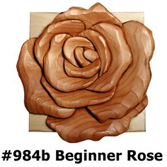 Intarsia rose