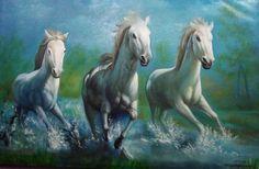 canvas horse paintings - Google खोज
