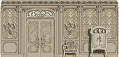 Art Nouveau doors - designed by Agrell Architectural Carving