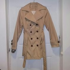 Trench Coat 100% Polyester Brand New Without Tags Never Worn Calvin Klein Jackets & Coats Trench Coats