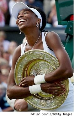 Venus Williams  I admire this gal for her composure, her coolness and of course her athleticism. Being an older sister, I've always shouted for her (when playing against her sibling) although I'm a fan of Serena too..