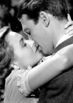 "Donna Reed and James Stewart~ in ""It's A Wonderful Life"", 1946. One of my favorite movies ever!"