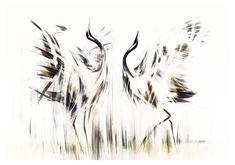 Obrazy na plotnie do salonu Zurawie Seria Shanghai - Nowoczesne obrazy do salonu i sypialni. Ręcznie zdobione. Photo D Art, Bird Illustration, Kandinsky, London, Shanghai, Photos, Birds, Survival, Abstract