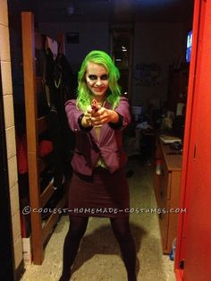 It was October 2012 and I had survived my first real college history test (I'm a freshmen for the loudest and proudest fightin' Texas Aggies! Female Joker Costume, Joker Cosplay Costume, Joker Halloween Costume, Superhero Costumes Female, Batman Costumes, Halloween Outfits, Girl Costumes, Halloween Ideas, Costume Ideas