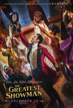"""THE GREATEST SHOWMAN is an original musical inspired by the life of P.T. Barnum, starring Hugh Jackman. Barnum was a visionary who rose from nothing to create the """"Greatest Show on Earth,"""" a spectacle and celebration of his larger-than-life imagination that captivated audiences around the globe. (2017 Movie 