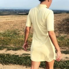 Chic and casual, it is an essential part of a woman's wardrobe. Natural from fiber to dye, it is totally hypoallergenic. A #MadeinFrance #Polo #Dress #Piqué #Cotton Concept Clothing, Clothing Labels, Must Haves, Organic Cotton, Highlights, Fiber, High Neck Dress, Feminine, Polo