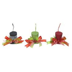 A&B Home Hat Christmas Ornaments - 3Pc/Box - Set Of 4.