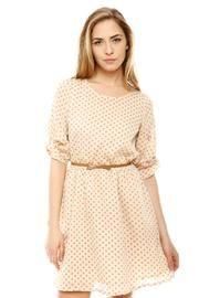 Shoptiques Belted Polka Dot Dress