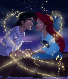 Disney Princess Ariel and Eric  