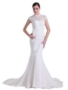 Topwedding High Neck Lace Mermaid Bridal Wedding Dress for Summer Womens   Topwedding High Neck Lace Mermaid Bridal Wedding Dress for Summer Womens   SHIPPING NOTICE   The dress is   made-to-order  , and would be  shipped out within 12-15 business days  after your order is paid   Shipping is arranged from  overseas ¡ª Standard  shipping takes about   6-8  business days ;  Expedited  shipping takes about   3-5  business days   If you need the dress urgently, please choose expedited sh..