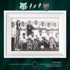 """Conceito do post e texto: """"#JogosHistóricos  Lá pelo ano de 1968, o Furacão Verde bateu o Atlético Mineiro por 4 tentos a 0. A maior goleada em casa, no saudoso Juca Ribeiro."""""""