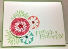 Handmade card featuring Stampin' Up!'s Petal Parade and Sassy Salutations Stamp Sets