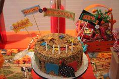 Plaquinhas com sabores dos bolos