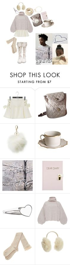 """""""snowy wish"""" by pjm095 ❤ liked on Polyvore featuring Chanel, Charlotte Russe, Anna Weatherley, Tabula Rasa, House of Lafayette, Winter, white, snow and december"""