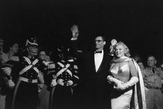 Marilyn and Arthur Miller at The Prince and The Showgirl premiere, 13 June 1957.