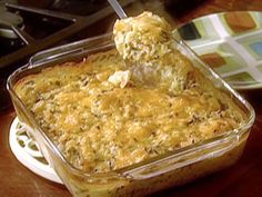 Momma's Chicken and Rice Casserole. I would use brown rice, add chopped celery and onions. Sounds Yummy and easy to make!