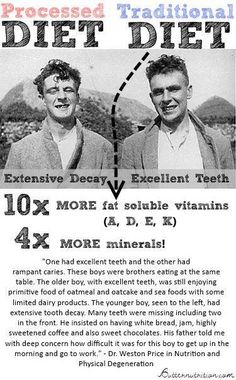 How much does our diet affect our health?! Take a look at these two brothers! Interesting observation!