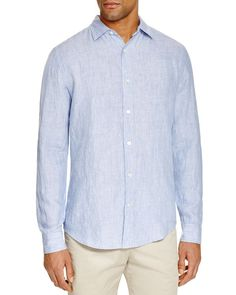 The Men's Store at Bloomingdale's Linen Chambray Shirt