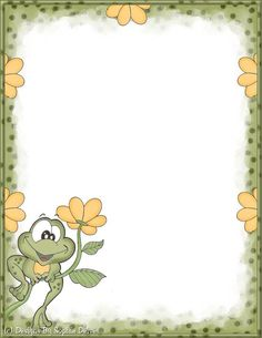 Diplom Borders For Paper, Borders And Frames, Cute Wallpapers, Wallpaper Backgrounds, Free Printable Stationery, Cute Frames, Page Borders, Frog Art, Paper Frames
