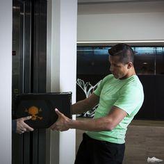 Alexis Sanchez receives his Hypervenom box.
