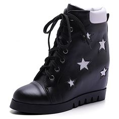 WeiPoot Women's Soft Material Lace-up Round Closed Toe High-Heels Low-top Boots >>> Remarkable product available now. : Over the knee boots Women's Over The Knee Boots, High Top Boots, Lace Up High Heels, High Heel Boots, Lace Up Boots, Black Boots, Leather Boots, Heeled Boots, Shoe Boots