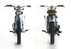"Honda ""The Little Blue"" by Deus Ex Machina - Lsr Bikes Honda Cub, C90 Honda, Deus Ex Machina, Custom Bobber, Custom Bikes, Honda Bikes, Cafe Racing, Motorcycle News, Mini Bike"