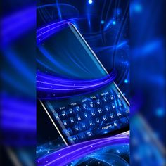 Digital Revolution, Sky Sea, Bright Colours, New Theme, Electric Blue, Keyboard, Glow, Product Launch, Concept
