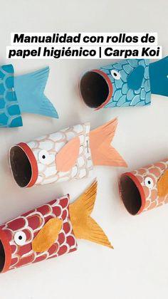 Ocean Crafts, Fish Crafts, Diy And Crafts, Toilet Paper Roll Crafts, Toilet Paper Art, Art Activities For Kids, Toddler Activities, Classroom Crafts, Preschool Crafts