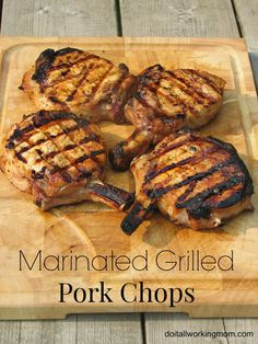 Enjoy ‪summer‬ and great food on the ‪‎grill‬. Try my juicy and delicious Marinated Grilled Pork Chops ‪recipe‬. Your family will love it!