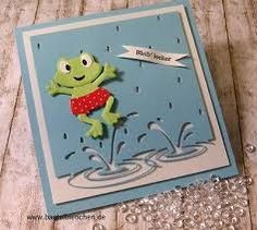 For Sale: Splashing Puddles Memory Box Die Item # 99062 **Makes Great Cards! Memory Box Cards, Memory Box Dies, Scrapbooking, Scrapbook Paper Crafts, Cards Made With Unbranded Dies, Poppy Cards, Die Cut Cards, Marianne Design, Animal Cards