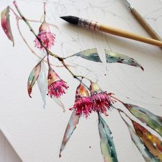 Try Your Hand At Different Watercolor Projects For Interesting Effects - Bored Art - Native Flower Art Watercolor Projects, Watercolour Tutorials, Watercolour Painting, Watercolor Flowers, Watercolor Techniques, Painting & Drawing, Watercolours, Watercolor Illustration, Botanical Drawings