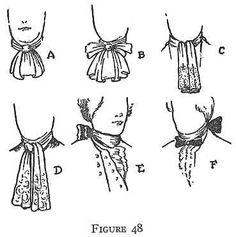 Men's Colonial Cravat Styles - Commentaire SG : Bien expliqué