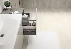 The Geberit Acanto asymmetric washbasin has a neat shelf area to store daily used bathroom products within easy reach. Bidet, Bathroom Collections, Bathtub, Shelves, Interior, Inspiration, Geberit, Home, Mix Match