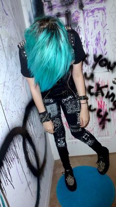 Tumblr | Gotta turn some old skinnies patchy, love this
