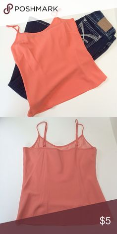 Silky Soft Peach Colored Camisole This cami is pre-owned and the tags have been removed but is a size small.  Very soft material in a peach color.  No stains or tears. Tops Camisoles