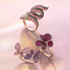 Call of the wild. Precious pink gems and diamonds from the Nature Collection recall the great outdoors. Effy Jewelry, Jewelry Rings, Jewelery, Jewelry Accessories, Fine Jewelry, Nature Collection, Rings Cool, Gold Pearl, Jewelry Patterns