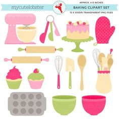 Interactive Websites, Baking Items, Apps, Cookie Designs, Teaching Materials, Clipart, Digital Scrapbooking, Pink And Green, Embroidery Designs
