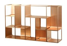 Copper View Shelf by KME - single shelves - architecture at STYLEPARK