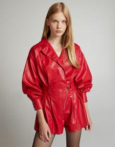Длинные и короткие платья | Новая коллекция | Bershka Plaid Dress, Dress Collection, New Dress, New Look, Latest Trends, Short Dresses, Leather Jacket, Jackets, Color