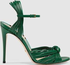 """Gucci """"Allie"""" Knotted Strappy Sandals"""