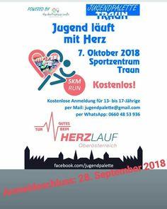 Wir bieten 13- bis 17- jährigen Jugendlichen die Möglichkeit am 7. Oktober 2018 kostenlos beim 5 km Run des Herzlauf OÖ - 2018 in Traun…