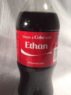 2015 Share a COKE with ETHAN Collectible 20 Oz Bottle Coca-Cola Name #Cocacola