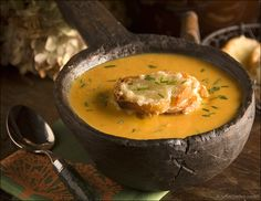 Butternut Squash and Carrot Soup with Gruyere Crouton's: For another ...