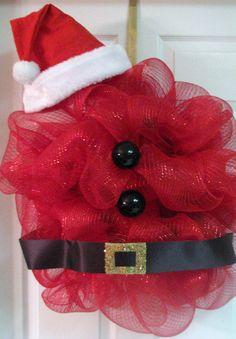 Santa Wreath. $35.00, via Etsy.