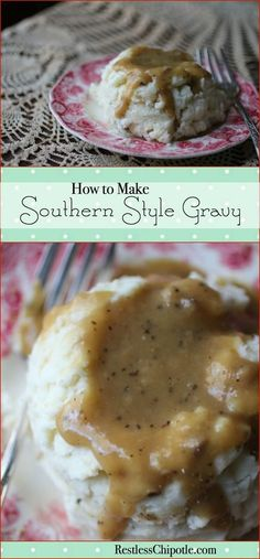 Learn how to make gravy perfect every time! There's nothing like homemade southern style gravy! From RestlessChipotle.com