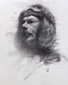 Hsin-Yao Tseng (charcoal on paper)