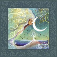 Earth and Moon ~ Amanda Clark