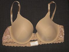 6898a401a84 MAIDENFORM NUDE BEIGE LACE ONE FAB FIT T-SHIRT UNDERWIRE BRA WOMEN S SIZE  36B